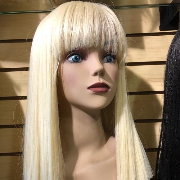 Accessories Platinum Blonde Straight Bob Wig With Lace Fringe Poshmark